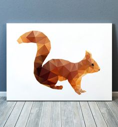 Squirrel print Animal art Geometric poster Wildlife print TOA110 by animalgeometry on Etsy https://www.etsy.com/listing/256510072/squirrel-print-animal-art-geometric