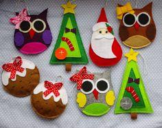 Ozdoby świąteczne z filcu