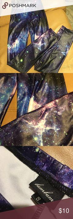 Leggings galaxy print Colorful galaxy print leggings Urban Outfitters Pants Leggings