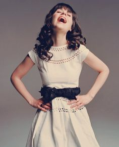 "If there was such thing as a ""style role model,"" mine would be Zooey Deschanel. She's so pretty, and she dresses so cute."