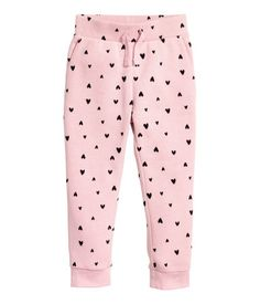 Joggers in sweatshirt fabric made from an organic cotton blend. Elasticized drawstring waistband, side pockets, and ribbed hems. Cute Girl Outfits, Cute Outfits For Kids, Teen Fashion Outfits, Fashion Kids, Heart For Kids, Kids Prints, Kid Shoes, Baby Dress, Fashion Online