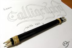 How to Do Calligraphy with a Pencil Tutorial - Lettering Art - Calligraphy Alphabet Tutorial, How To Do Calligraphy, Pencil Calligraphy, Hand Lettering Tutorial, Hand Lettering Alphabet, Calligraphy Handwriting, Calligraphy Letters, Penmanship, Calligraphy Supplies