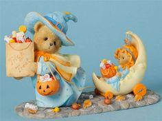Cherished Teddies Connie & Annie Halloween Limited to 1000 Pieces Worldwide