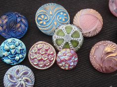 A collection of #Czech glass #buttons.