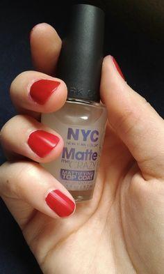 NYC Matte Me Crazy - matte top coat! $1.79 at Target