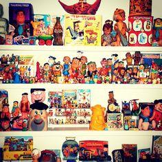Part of my Flintstones collection #popculture  #coolstuff  #flintstones #fredflinstone #pebbles #bambam #dino #hannabarbera #cartoons  #animation  #tv #movies  #saturdaymorningtv  #abc #classictv  #toys #collectibles  #collectibletoys #antiquetoys  #marxtoys #puppets  #cars  #flintmobile #boardgames - @brianlevant- #webstagram