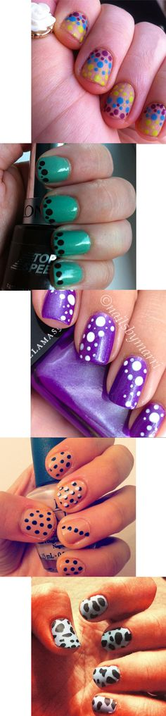 Dot, dot, we like these a lot! Check out all these polka dotted short nail designs -- French, gradient, ombre, and all over patterns! Mix it up with different colors for different days of the week. Nailpro Magazine.