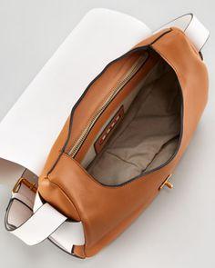 Marni Bicolor Leather Shoulder Bag - Neiman Marcus