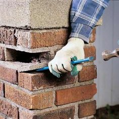 Learn how to clean, reset and tuckpoint loose bricks. A loose brick can ultimately lead to major problems – even a wall collapse – but the fix is simple.