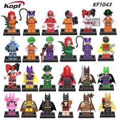 Joker Fairy Tartan Pajamas Batman Poison Ivy Red Hood Mr. Freeze Calendar Man Two-Face Batgirl Building Blocks Kids Toys KF1043