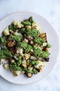 roasted cauliflower with pesto recipe