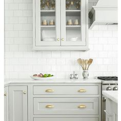 Kitchen inspiration  Classic and beautiful. LOVE LOVE the cabinets color  (Design by Heidi Piron)