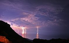 Lightning with dark moon