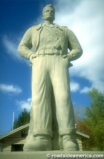 Visit reports, news, maps, directions and info on Steve Canyon Statue in Idaho Springs, Colorado. Idaho Springs Colorado, Milton Caniff, Roadside Attractions, Cartoon Art, June 4th, Statue, American, Pirates, Pilot