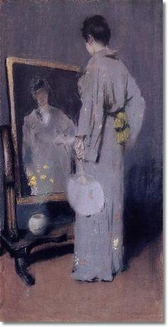 William Merritt Chase - Making Her Toilet