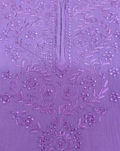 Murri Chana Patti + Ghaas Patti ■ Hand Embroidery ■ Chikankari ■ By [*Sfq*] Embroidery Dress, Hand Embroidery, Silk Kurti, Kurti Patterns, Summer Wear, Handicraft, Design, Tejidos, Craft