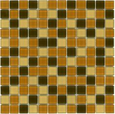 Mineral Tiles - Glass Mosaic Tile Backsplash Brown Blend 1x1, $9.95 (http://www.mineraltiles.com/glass-mosaic-tile-backsplash-brown-blend-1x1/)