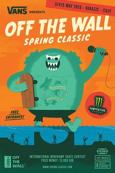 Vans Off The Wall Spring Classic 2010-2013 by Mauro Gatti, via Behance
