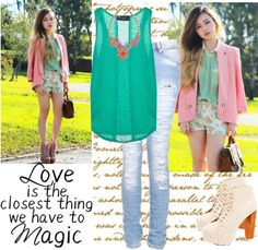 """""""Love is the closest thing we have to magic!"""" by lip-gloss-lover ❤ liked on Polyvore"""
