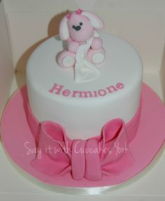 Girls Christening cake x