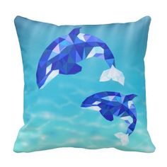 Beautiful dolphin pillow