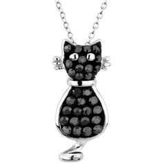 Reeds Swarovski Crystal Elements Black And White Crystal Cat Pendant ($30) ❤ liked on Polyvore featuring jewelry, necklaces, accessories, black, jewels, swarovski crystal pendant, white and black necklace, crystal jewelry, cat pendant necklace and swarovski crystal jewelry
