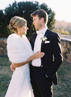 Winter Wedding Fur, Winter Wedding Bridesmaids, Winter Bride, Winter Wonderland Wedding, Brides And Bridesmaids, Fur Wrap Wedding, Christmas Wedding, Vintage Fur, Vintage Bridal