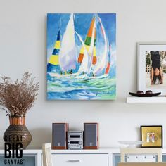 Artist Jane Slivka is best known for richly colorful and exotic paintings of ocean scenes. See more of her work at GreatBIGCanvas.com
