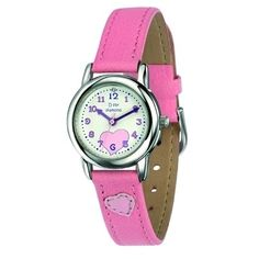 Diamond Set Girls Pink Quartz Watch With Genuine Leather Strap D for diamond Gifts Children's, D for diamond, Children's Watches @ Miss Grant Ltd Girls Jewelry, Jewelry Gifts, Pink Watch, Silver Prices, Pink Quartz, Brilliant Diamond, Pink Leather, Quartz Watch, Pink Girl