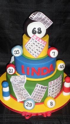 Bingo cake :) 70th Birthday Parties, Birthday Party For Teens, Birthday Party Decorations, Birthday Games, Birthday Ideas, Bingo Cake, Bingo Party, Adult Party Themes, Surprise Cake