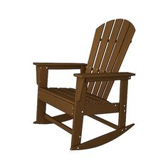 Polywood South Beach Patio Rocking Chair ($340) ❤ liked on Polyvore featuring home, outdoors, patio furniture, outdoor chairs, brown, heavy duty patio chairs, patio rockers, outdoor furniture, heavy duty patio furniture and outdoors patio furniture