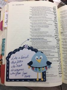 I love this excerpt from Proverbs so much that I decided to do a Bible Journaling entry for it. I've used my Cricuit machine again and worked in my NIV Holy Bible Journal.