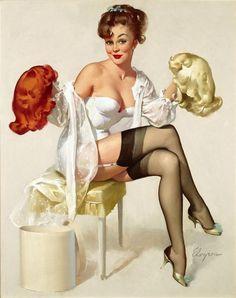 Gentlemen Prefer ..? (Gents Prefer) by Gil Elvgren, 1963.