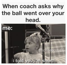 LOL! I am not that short but when the ball does go over my head I say, 'How tall do you think I am?' #soccer