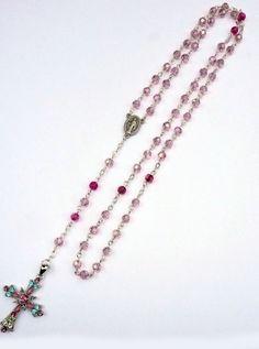 Genuine Pink Swarovski Crystal & Pink Amethyst by IslandGirl77, $45.99