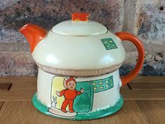 Fabulous Rare 1926 Shelley Pottery Art Deco Mabel Lucie Attwell Boo Boo Teapot