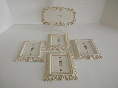 Vintage Porcelain Switch Plate Covers Set of by Rt9NJvintageFun