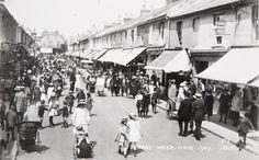 George Street, Hove 'Pram Week' (1920) Brighton Sussex, Brighton And Hove, East Sussex, Old Photos, Vintage Photos, Old Postcards, Street View, Wall Street, Seaside
