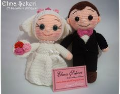 Candy Apples Mestieri Workshop: Amigurumi sposa-sposo nostro doppio :)