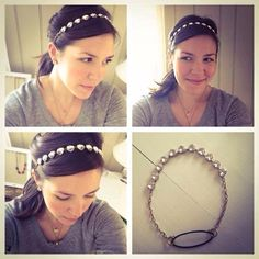 Brilliant idea! Take the best selling Stella @ Dot Somerville Necklace attach to an elastic hair tie and viola....adorable glitzy head band. Great for holiday sparkle or wedding glam!