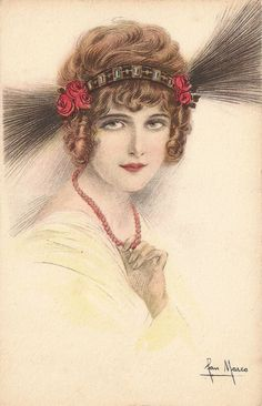 1920s Art Deco Italian Fashion Illustration by TheVintageProphecy