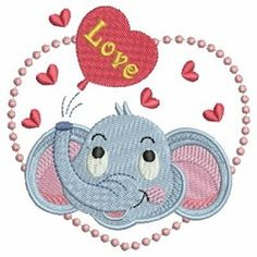 Baby Elephant 11 - 4x4 | What's New | Machine Embroidery Designs | SWAKembroidery.com Ace Points Embroidery