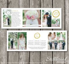 Trifold Brochure Template - Photography Pricing Brochure - Trifold Template for Photographers - AC01