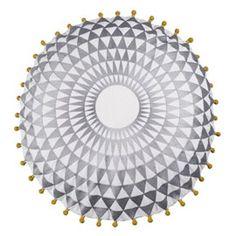 Heal's   Niki Jones Dove Grey Concentric Cushion - Cushions - Soft Furnishings - Accessories