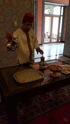 Chá marroquino servido no Hotel Riad Mogador Menara - Marrakech