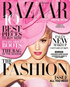 Gwen Stefani Fronts the September Cover of Harpers Bazaar US by Terry Richardson