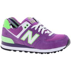 New Balance Exclusive Yacht Club Purple Trainers ($95) ❤ liked on Polyvore featuring shoes, sneakers, purple, lace up shoes, new balance, breathable shoes, lace up sneakers and leather shoes