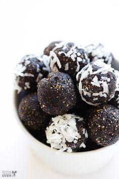 Almond Joy Energy Bites | gimmesomeoven.com