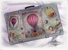 Декупаж старых чемоданов Barbara Zernek