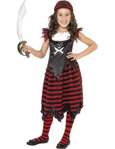 Gothic Piraat Meisje Kostuum ==> Feestkleding 365!